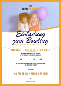 bowling einladung zum ausdrucken